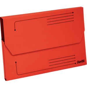 B3427 Bantex Document Wallet Red