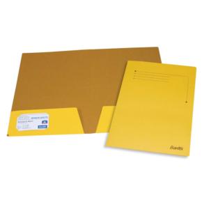 B3446 Bantex Presentation Folders Kraft Yellow