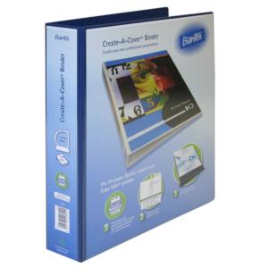 B1224 Bantex Create A Cover 40mm File Blue