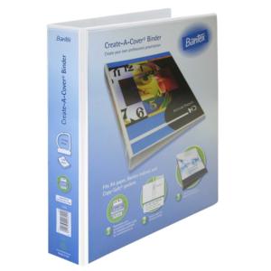 B1224 Bantex Create A Cover 40mm File White