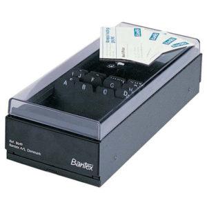 Bantex Black Business Card Filing Boxes - 700 cards