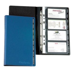 A4 PVC BUSSINESS CARD ORGANISER -4D RING