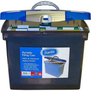 Bantex Portable Filing Case Blue