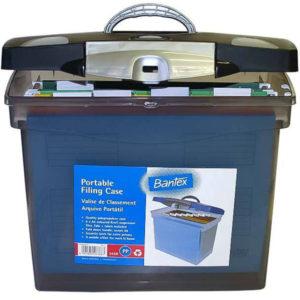Bantex Portable Filing Case Black