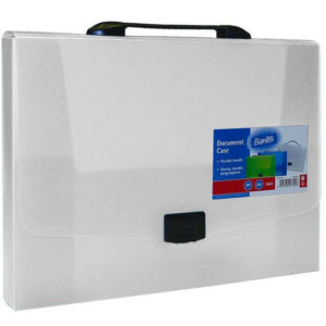 Bantex Clear A4 PP Document Case with Retractable Handle