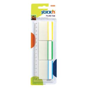 Stick 'N Repositionable Hanging Filing Tabs (3 Asst Framed Colours)