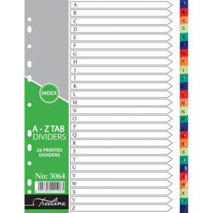 Treeline A4 PVC A-Z Rainbow 26 part
