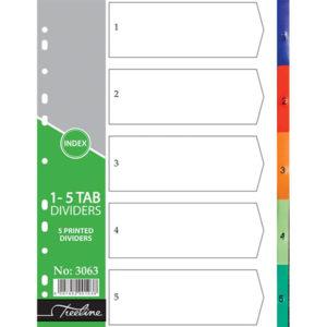 Treeline A4 PVC 1-5 Numbers Rainbow