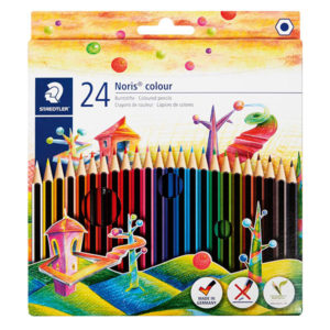 Staedtler Assorted Pencil Crayons F/L Set 24