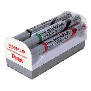Pentel MWL5S4MS Maxiflo Magnetic Duster Set - whiteboard